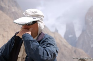 Alan sick in the Karakorum