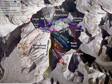Comparing the Routes of Everest - 2018 edition