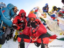 Alan on the summit of Everest May 21, 2011 5:00AM
