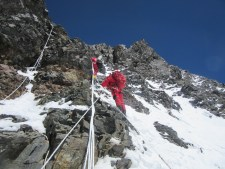 Climbing the Black Pyramid on K2