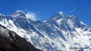 Everest and Lhotse April 6, 2015