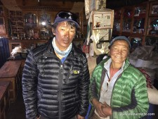Kami and his wife in the home before the earthquake