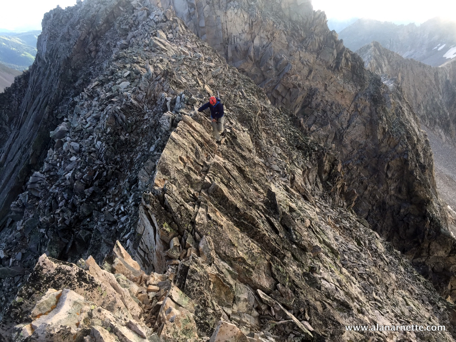 Jim playing on the Knife Edge ridge