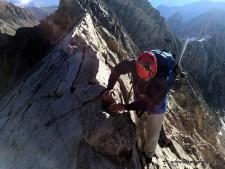 Jim playing on the Knife Edge ridge