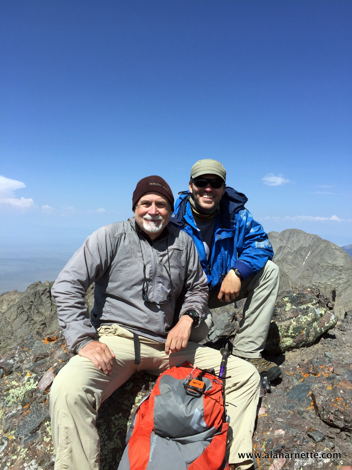 Alan and Andy on the summit of Crestone Needle