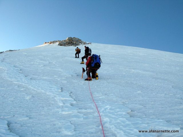 Nearing the summit of Orizaba at 18,880/5754'
