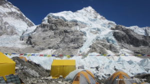 Nuptse from my Everest 2016 Base Camp Tent