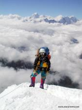 Lhapka Sherpa on Ama Dablam in 2000