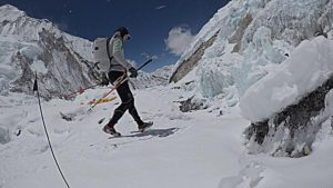 Ueli Steck in Western Cwm courtsey of Ueli Steck