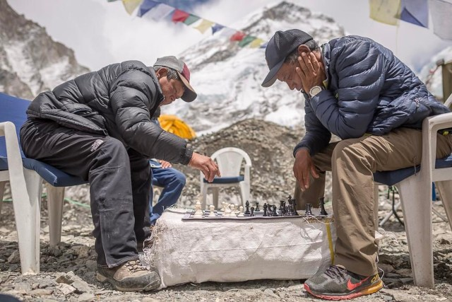 Image result for chess on everest