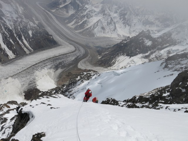 Approaching Camp 3 on K2 in 2014 by Alan Arnette