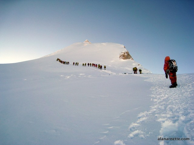 Leaving Camp 3 for the summit in 2013. ©alanarnette