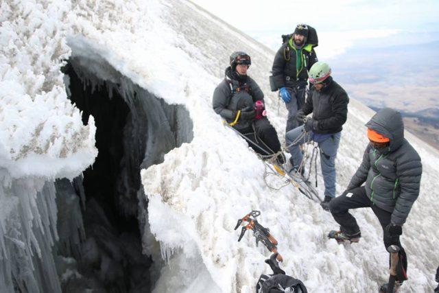 Orizaba crevasse in February 2016 near 18,100' source SummitPost.org