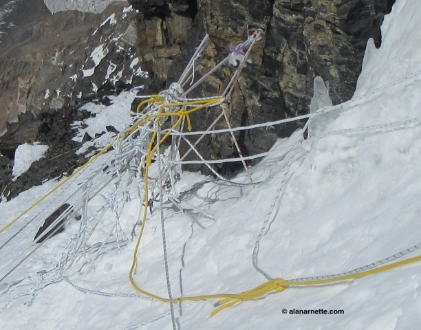 K2 Ropes in 2014 on Black Pyramid