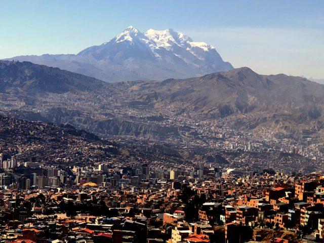Illimani from La Paz by Alan Arnette