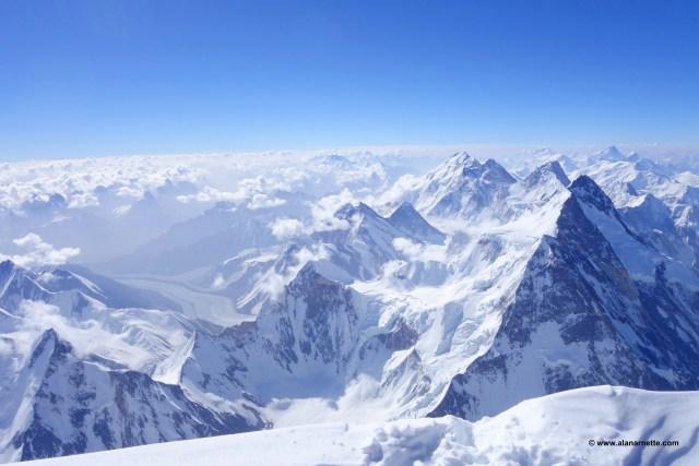 K2 Summit View into China. © www.alanarnette.com