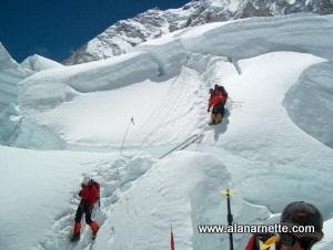Climbing the Khumbu Icefall