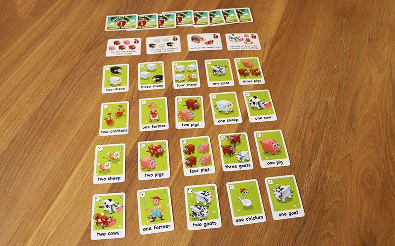 Alana's animals second game type on the table