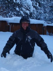 Jason formerly lived in Truckee, California. Here he is enjoying some 'big snow'
