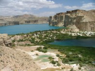 Band-i-Amir in central Afghanistan is a popular tourist spot with its series of lakes of the most incredible colours. The water is reputed to cure all kinds of illness. This is where Iqbal's father took him in an attempt to cure his leprosy.