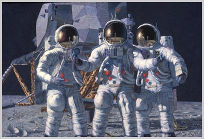 Bean, Conrad and Gordon. (The Apollo 12 astronauts), 1992.