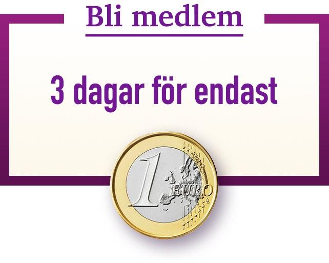 Bli medlem för endast €1