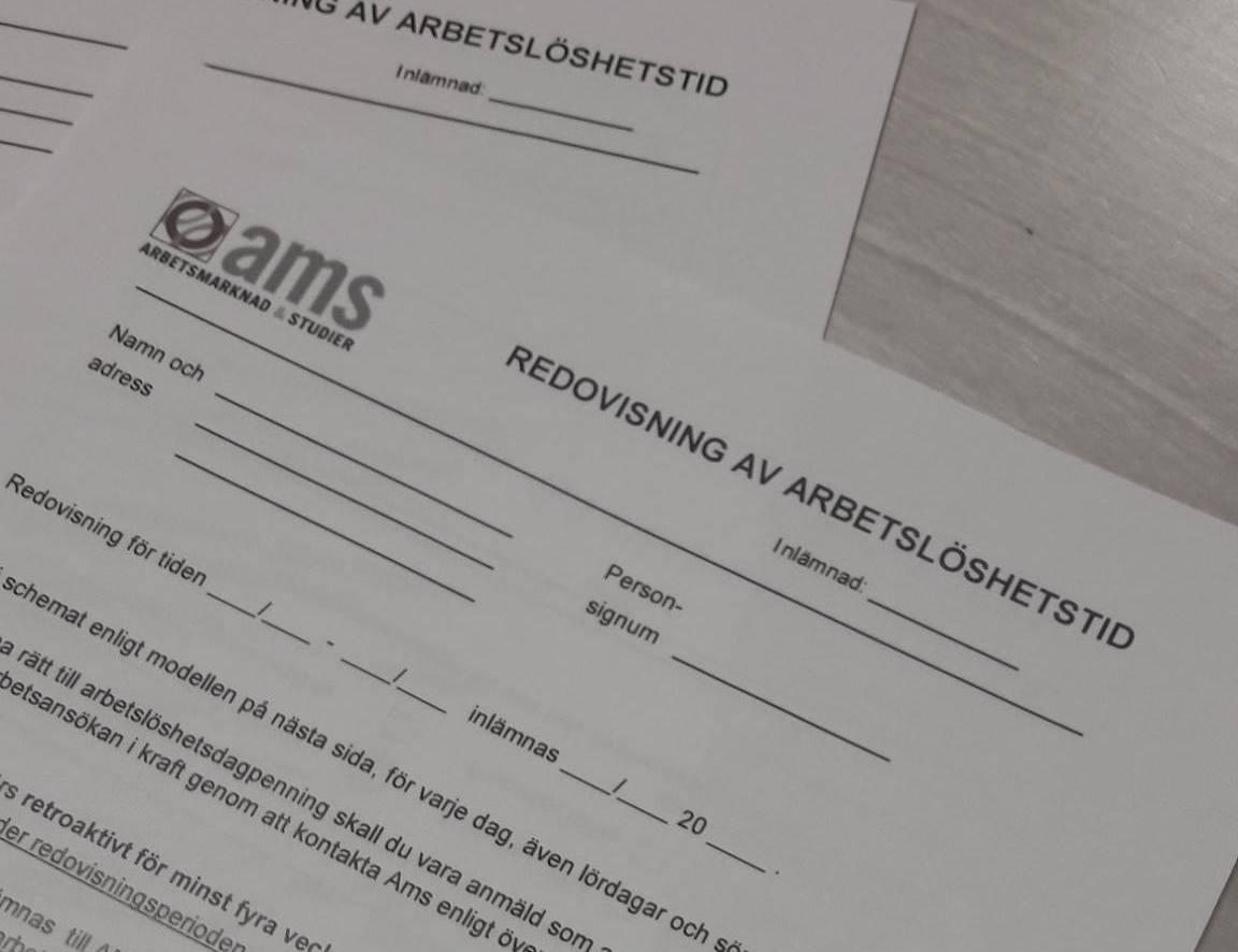 AMS bidrag arbetslös