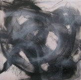 """""""Tangled"""" 10""""x10"""" Encaustic and charcoal on Panel SOLD"""