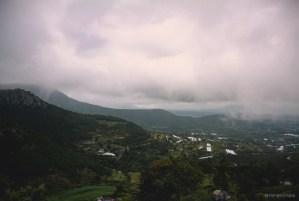 Paisaje frío y nuboso desde Fray Francisco, El Arenal