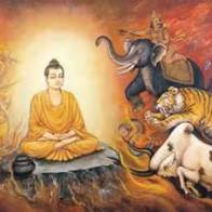 Animals with the Buddha