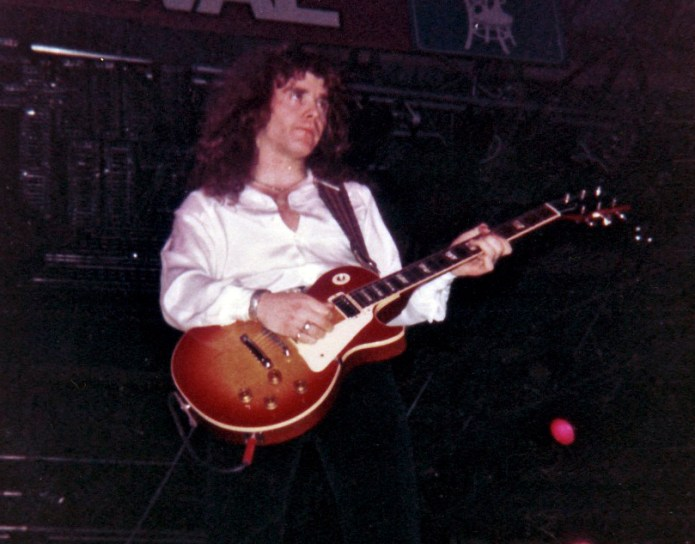 Brian Robertson at the Reading Rock and Blues Festival, 1977.