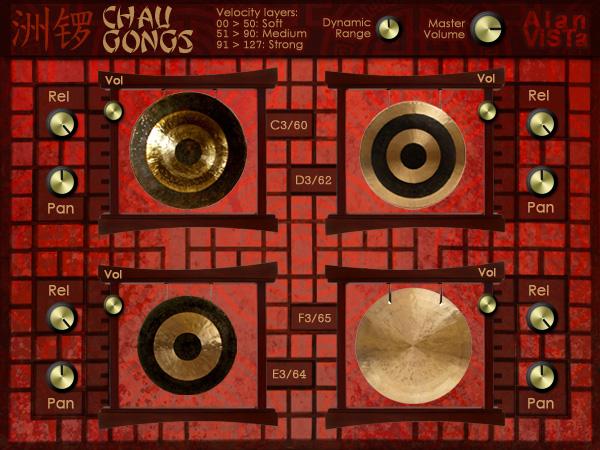 Chau Gongs - Free VST chinese gongs
