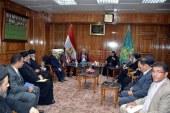 محافظ القليوبية يعقد اجتماعا لبحث الاستعدادات لاعياد راس السنة