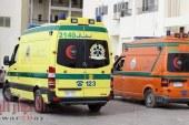 مصرع مدرس وإصابة 2 آخرين في تصادم سيارة نقل بدارجة بخارية بالفيوم