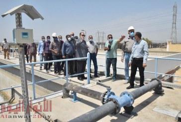 محافظ أسيوط يتفقد محطة معالجة صرف صحي المشايعة ضمن مشروع صرف مدينتي صدفا والغنايم