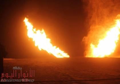 انفجار خط الغاز الرابط بين مصر وإسرائيل في سيناء