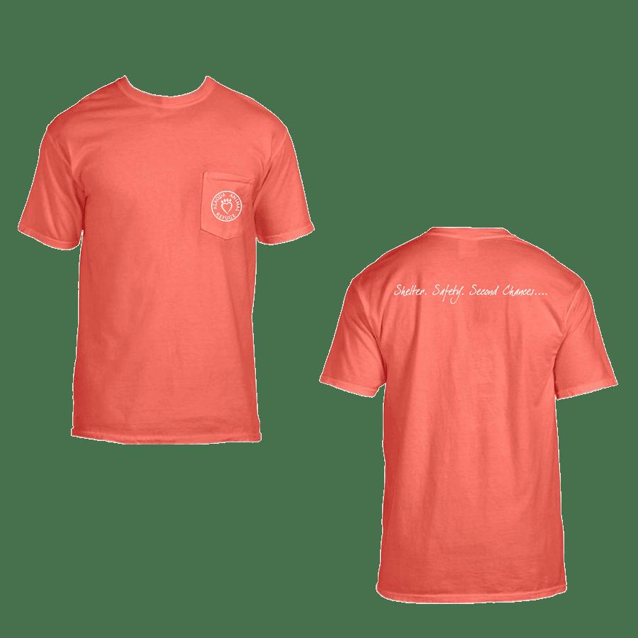 salmon adult pocket tshirt