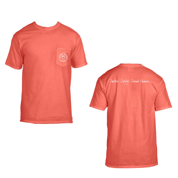 salmon adult pocket tshirt