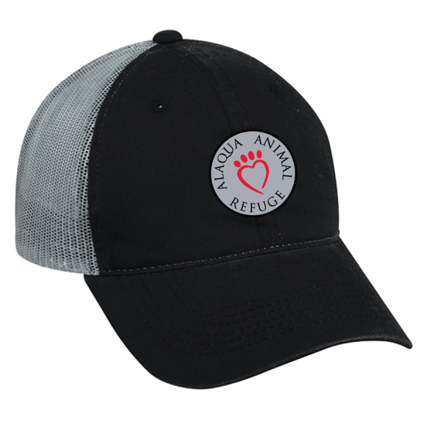 black gray trucker hat