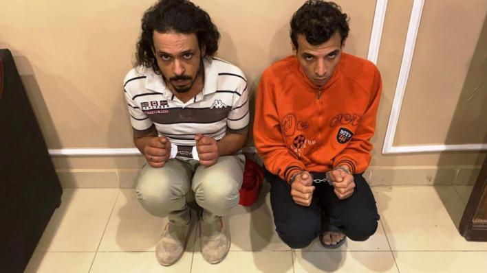 المتهمين بجريمة فتاة المعادي - مصر (تويتر)