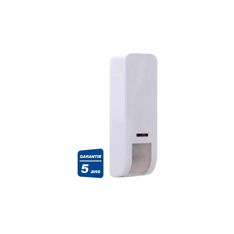detecteur rideau exterieur sans fil double technologie pour porte fenetre baie vitree risco rwx107dt800a