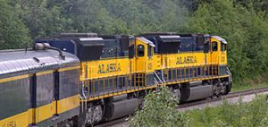 Alaska Railroad train ride