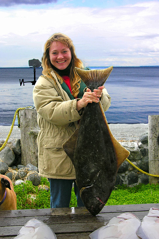 Shannon with halibut