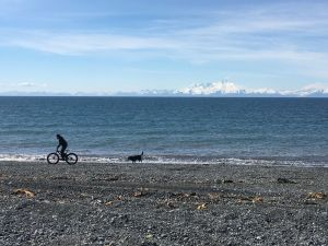 Jason fat biking beach