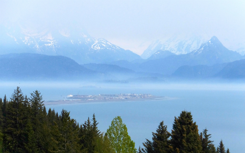 View of Homer Spit and Kachemak Bay