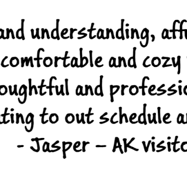 Jasper testimonial: Jason was patient and understanding