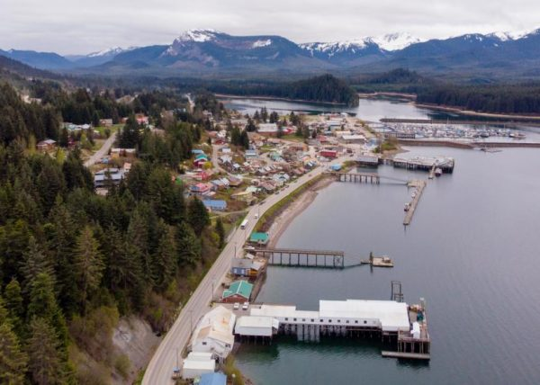 The city of Hoonah on May 2, 2019 (Photo by David Purdy, KTOO - Juneau)