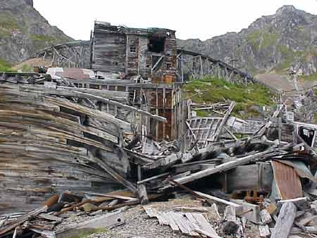 Independence Mine rubble