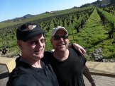 Chip and I check out the vines.