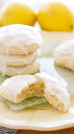 These soft-baked lemon sugar cookies are super soft and tender, and topped with a sweet homemade lemon glaze! If you love lemon recipes as much as I do, this lemon sugar cookie recipe is just for you!